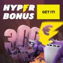 Hyper Casino offers a $100 online casino deposit bonus