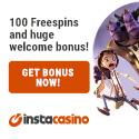 Instacasino offers a $500 online casino deposit bonus