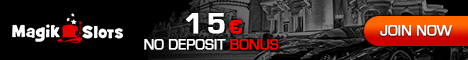 Magik Slots Casino offers a $1500 online casino deposit bonus and a great $15 no deposit casino bonus