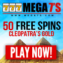 Mega 7's Casino offers a $100 online casino deposit bonus and a great $50 no deposit casino bonus