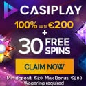 Casiplay offers a $200 online casino deposit bonus