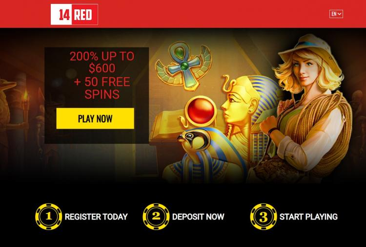 14 Red Casino homepage image