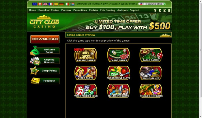city club casino online gratis