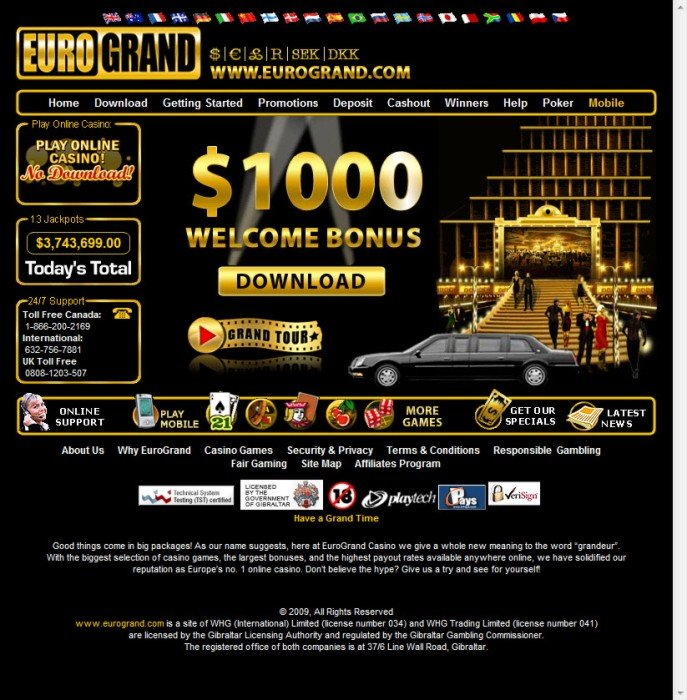 grand online casino free  games