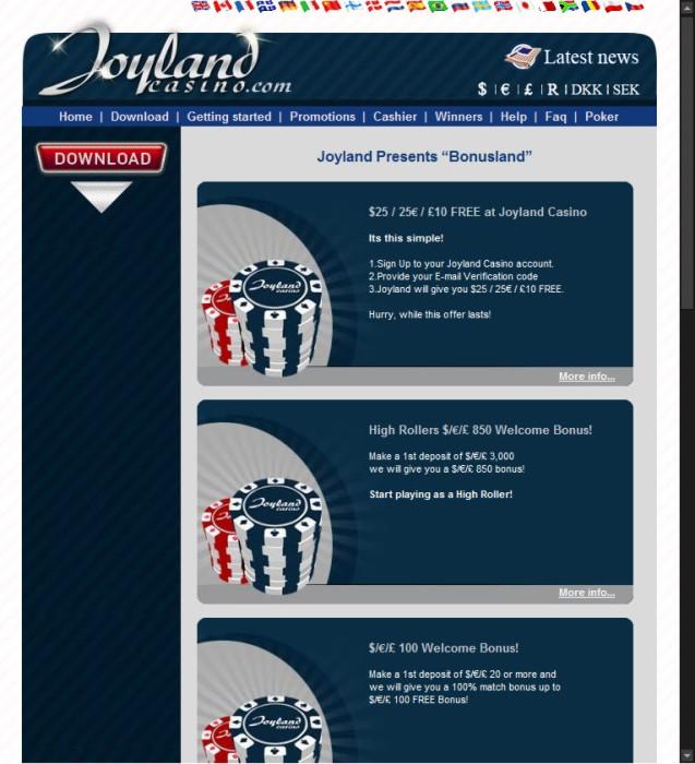 Joyland Casino Gutscheincode 2021
