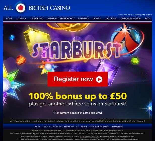 All British homepage image