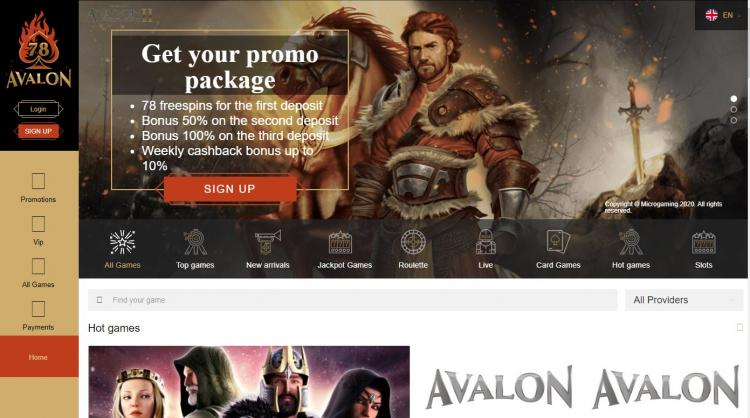 Avalon78 homepage image