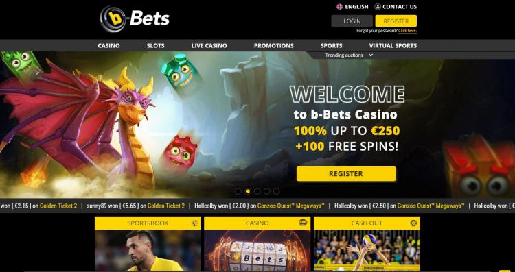 B-Bets homepage image