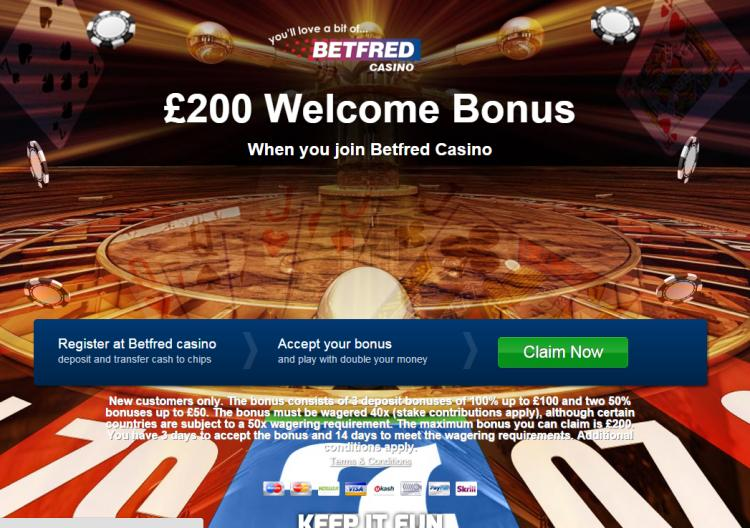 Betfred homepage image