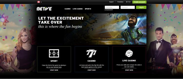 Betive homepage image