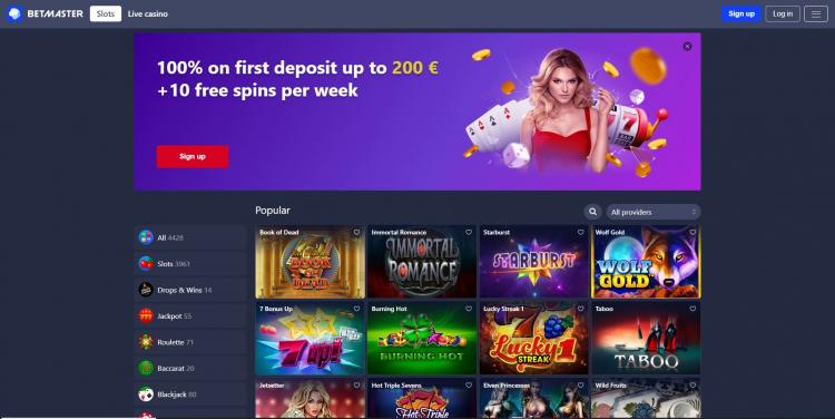 betmaster homepage image