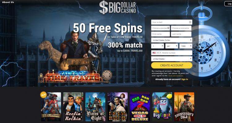 Big Dollar homepage image