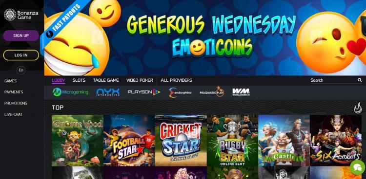 Bonanza homepage image