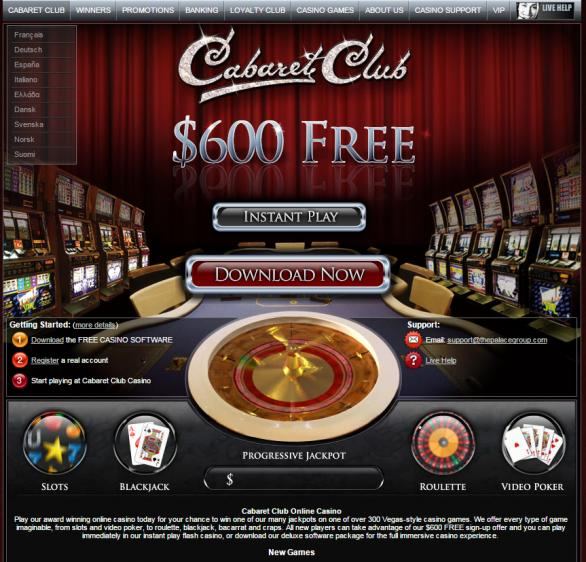 Cabaret Club homepage image