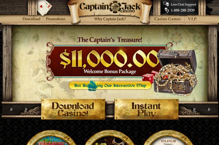 Captain Jacks homepage image