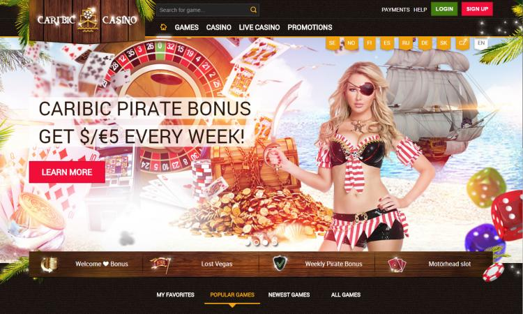 Caribic homepage image