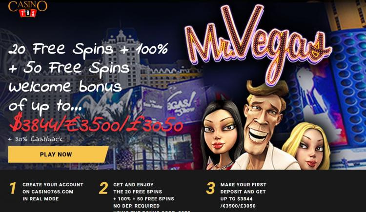 Casino 765 homepage image