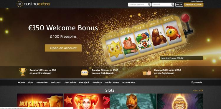 Casino Extra homepage image