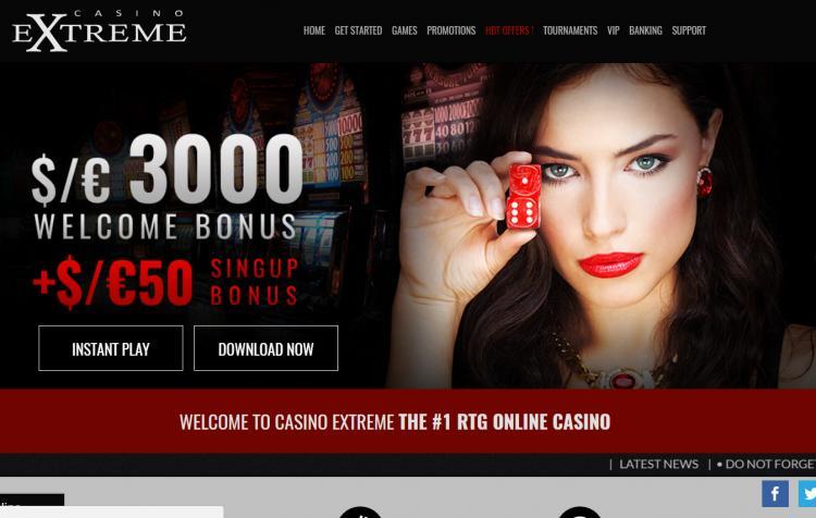 Casino Extreme homepage image