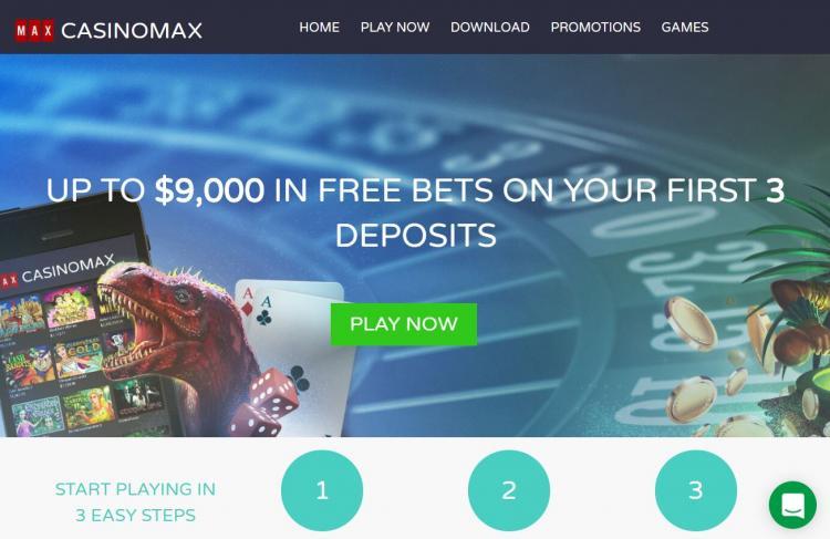 Casino Max homepage image