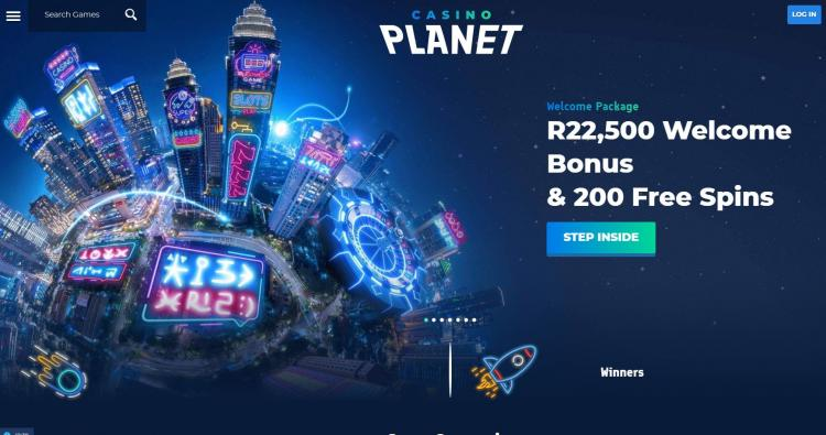 Casino Planet homepage image