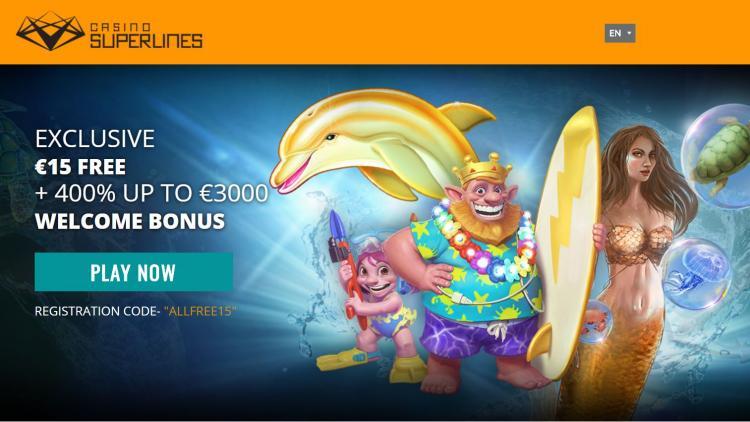 Casino Superlines homepage image