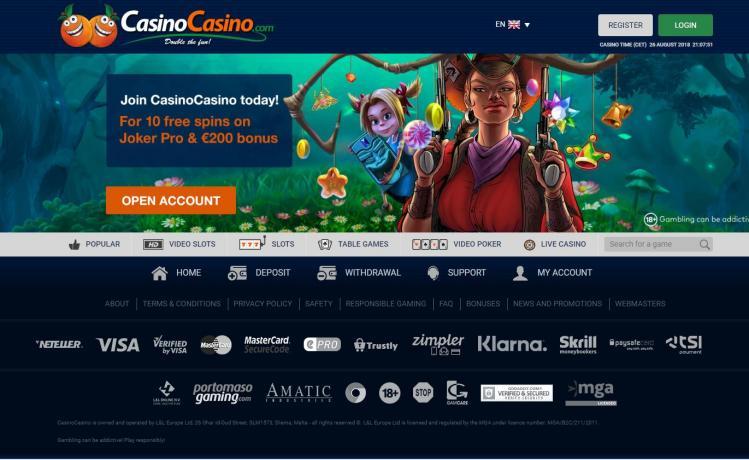 CasinoCasino homepage image