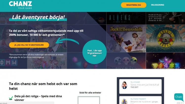 Chanz homepage image