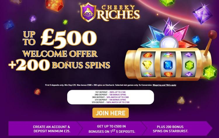 Cheeky Riches homepage image