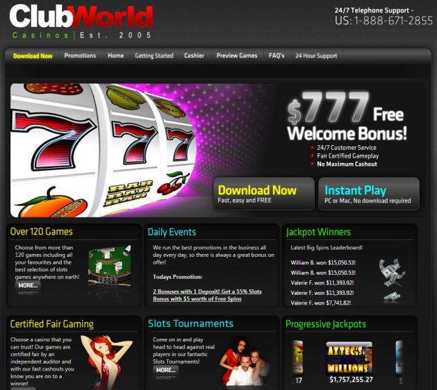 Club USA Casino homepage image