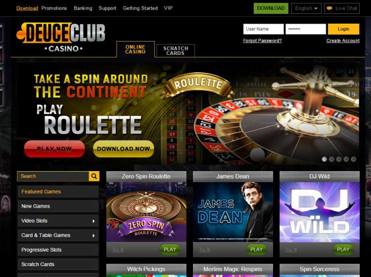 Deuce Club homepage image