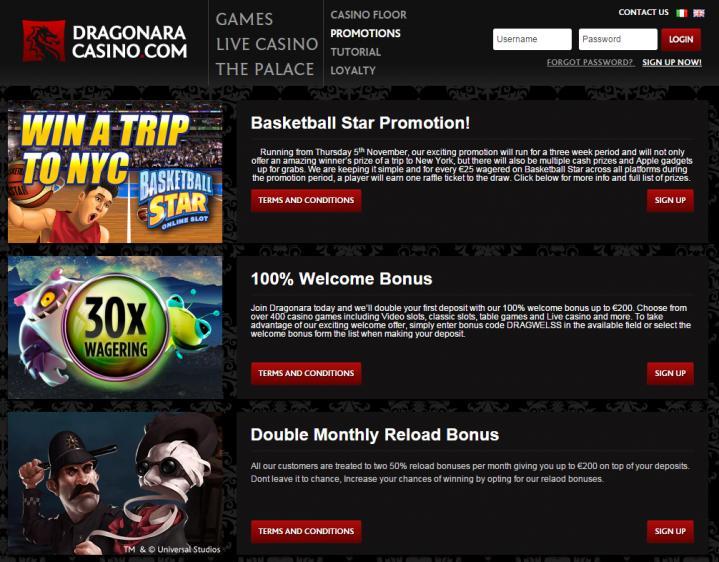 Dragonara homepage image