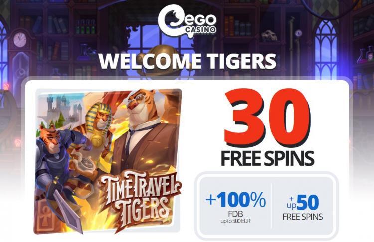 Ego Casino homepage image