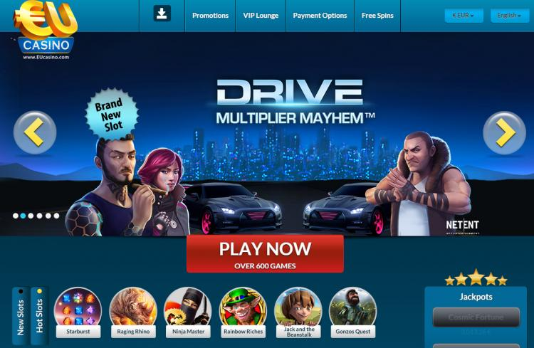 EU Casino homepage image