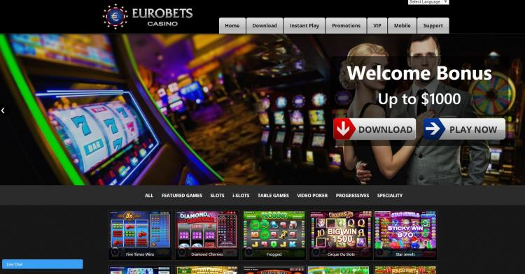 Euro Bets homepage image