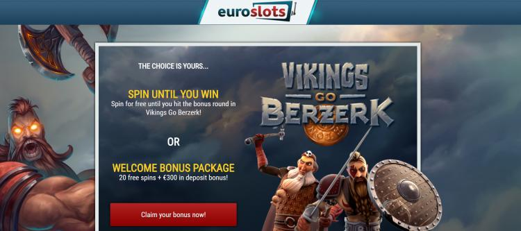 Euro Slots homepage image