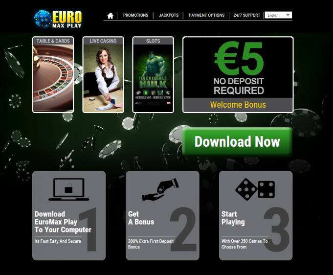 EuroMax Play homepage image