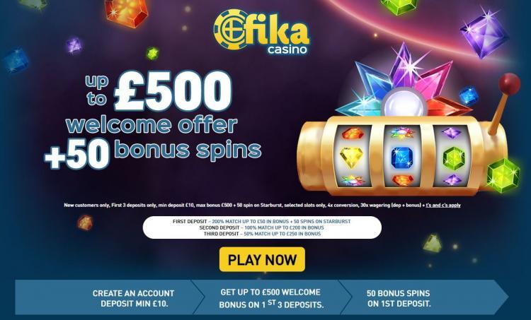 Fika Casino homepage image