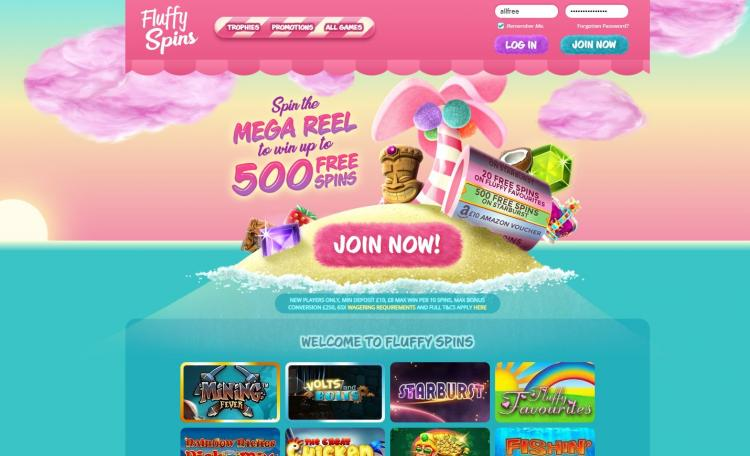 Fluffy Spins homepage image