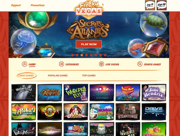Freaky Vegas homepage image
