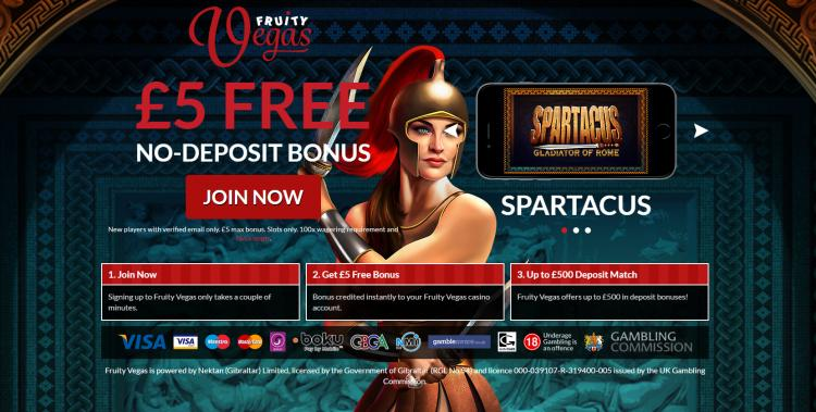 Fruity Vegas homepage image