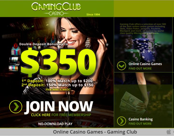 Gaming Club homepage image