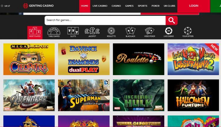 Genting homepage image