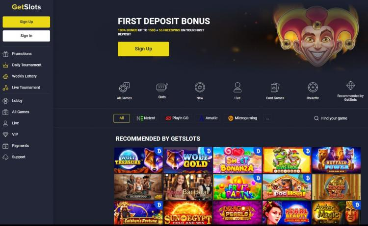 Get Slots homepage image