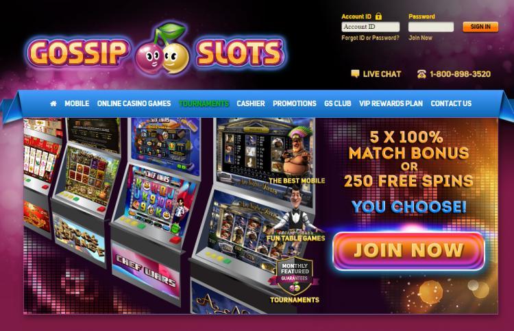 Gossip Slots homepage image