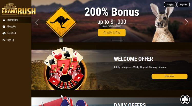 Grand rush free spins no deposit