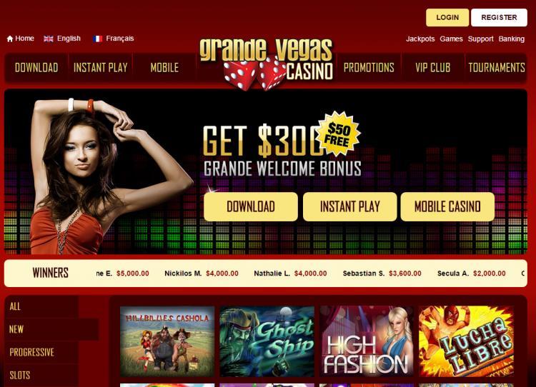 Grande Vegas homepage image