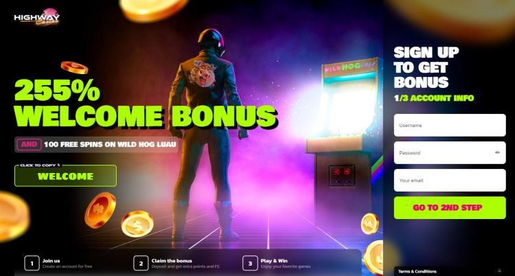 Highway Casino homepage image