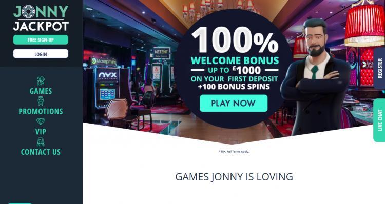 Jonny Jackpot homepage image