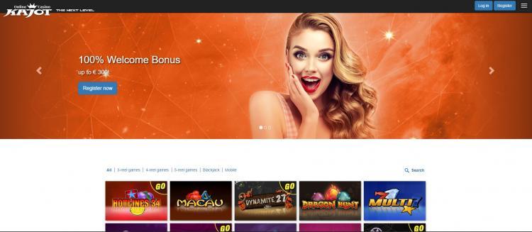 Kajot homepage image